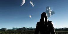Dual Universe ne brille pas par son moteur graphique, mais pourra accueillir des milliers de joueurs en simultanés dans le même monde.