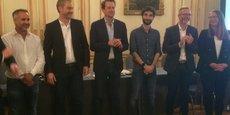 Julien Anselme, Guillaume-Olivier Doré, Cyril Texier, Bertrand Bussac, David Babin et Hélène Desliens, membres du comité de pilotage de French Tech Bordeaux