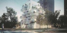 Le projet comprend 43 logements, de qualité et évolutifs, offrant des espaces de vie ouverts sur l'extérieur et 723 m² de surface d'activité.