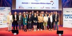 Les lauréats et le jury de Transformons la France, demain en Auvergne-Rhône-Alpes