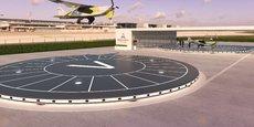 Un exemple de Vertiport avec le projet de VTOL d'Ascendance Flight