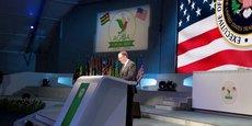 Robert Lighthizer, représentant des Etats-Unis pour le Commerce extérieur (USTR) lors de son allocution d'ouverture de la session plénière du 16e Forum de l'AGOA, tenu le 9 août 2017 dans la capitale togolaise, Lomé.