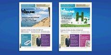 La Une de La Tribune disponible en Nouvelle-Aquitaine, mettant en valeur notre dossier dédié aux mutations du tourisme, et la Une visible dans les autres kiosques de France
