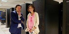 Mathieu Le Treut, directeur général de CIS Valley et Florence Beyrie, directrice commerciale et marketing de Web100T.