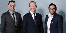 De gauche à droite : Stéphane Bombon (président de Fundimmo), Georges Rocchietta (président-fondateur du groupe Atland), Jérémie Benmoussa (directeur général de Fundimmo)
