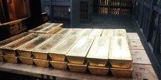 Lingots d'or stockés dans les coffres de la Banque centrale de Suisse.