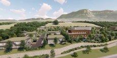 Chambéry Grand-Lac Économie (CGLÉ) investit 10 millions d'euros dans l'aménagement de la nouvelle zone d'activités des Sources, à Grésy-sur-Aix (Savoie).
