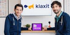 Julien Honnart (à gauche) et Cyrille Courtière ont fondé WayzUp en 2012, devenu Klaxit depuis.