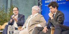 De gauche à droite : le président de la Fondation Travailler Autrement Patrick Levy-Waitz, la ministre de la Cohésion des territoires et des Relations avec les Collectivités territoriales Jacqueline Gourault et le ministre de la Ville et du Logement Julien Denormandie.