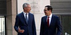 Les discussions sur la fiscalité des Gafa entre Bruno Le Maire et le secrétaire d'Etat américain au Trésor Steven Mnuchin pourraient être tendues.