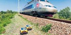 Des robots tondeurs ont été testés le long des voies ferrées.