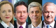 L'Espagnole Nadia Calviño, le Néerlandais Jeroen Dijsselbloem, le Portugais Mario Centeno et le Finlandais Olli Rehn sont pressentis comme les favoris pour la direction générale du FMI.