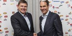 Tertius Carstens, PDG de Pioneer Foods et Eugene Willemsen, directeur de la nouvelle entité PepsiCo Afrique subsaharienne.