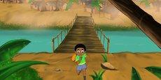 Le dessin animé La jungle de Jabu qui passe sur Gulli Africa.