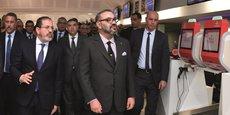 Le roi Mohammed VI lors de l'inauguration, le 22 janvier 2019, du terminal 1 de l'aéroport international Mohammed V de Casablanca.