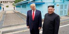 Donald Trump et Kim Jong, le 30 juin 2019 à à Panmunjom (Corée du Sud), une zone démilitarisé séparant les deux Corées.