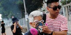 Des manifestants à Hong Kong.