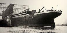 Mise à l'eau du Titanic en mai 1911 (chantiers Harland and Wolff)