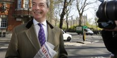 Nigel Farage, chef de file de l'UKIP. Copyright Reuters
