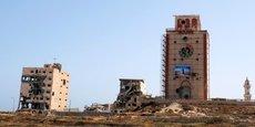 Vue générale de la reconstruction du phare de Benghazi, un des plus importants monuments de la ville et qui remonte aux années 1920.