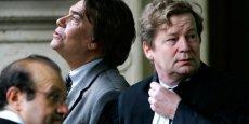 Bernard Tapie avec son avocat Maurice Lantourne (à droite) / Reuters