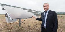 Le maire de Toulouse et président de la Métropole a participé à la pose du premier panneau photovoltaïque de la centrale, le 28 août.