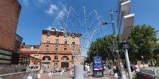 Trois canopées urbaines sont en train d'être installées à Toulouse.