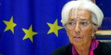 Christine Lagarde ce mercredi 4 septembre au Parlement européen.