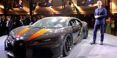 Stephan Winkelmann, président de Bugatti Automobiles, présente la Chiron Super Sport 300 +.