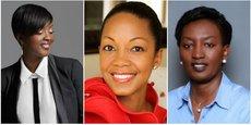 [De gauche à droite] Leticia N'Cho Traoré, fondatrice de la conciergerie abidjanaise 3W ; Swaady Martin, fondatrice et CEO d'Yswara et Rosette Rugamba, fondatrice et CEO de Songa Africa.
