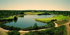 Golf du Médoc Resort, vue panoramique du trou numéro 5
