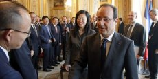 François Hollande et la délégation du China Entrepreneur Club. Copyright Reuters.