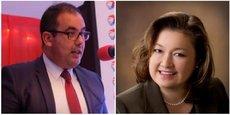 Tarik Moufaddal, nouveau directeur général de Total Maroc; Deedee Atsumi-Sarno, secrétaire générale.