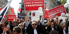 Manifestation des avocats contre la réforme des retraites le lundi 16 septembre.