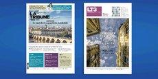 La Une de l'hebdomadaire La Tribune diffusée en Nouvelle-Aquitaine et la Une du cahier dédié à l'immobilier tertiaire dans la métropole bordelaise