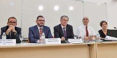 Jean-Marc Figuet, Denis Lauretou, Jean-François Clédel, Régis Haumont et Martine Domecq.