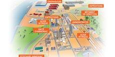 Implantée sur la zone portuaire de Rouen, l'usine Borealis de Grand-Quevilly est spécialisée dans la fabrication d'engrais azotés. Sa capacité de production est de 3 300 000 tonnes par an et elle fonctionne 365 jours par an. Quelque 360 personnes travaillent sur ce site.