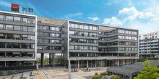 Le siège de Komercni Banka, près de Prague. La banque, aux mains de la SocGen, affiche une rentabilité de 25 %.
