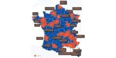 Le CGET a recensé 173 coopérations territoriales entre 21 métropoles françaises et leurs territoires voisins.