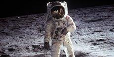 Buzz Aldrin, astronaute de la mission Apollo 11 pris en photo par son coéquipier, Neil Armstrong, premier homme à marcher sur la Lune, le 21 juillet 1969.