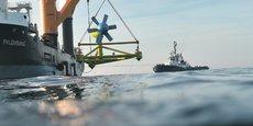 La société d'hydroliennes Sabella, à Quimper, a déjà collecté 9. 000 euros sur les 200.000 qu'elle cherche.