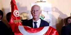 LIESSE DES PARTISANS DE KAÏS SAÏED, DONNÉ VAINQUEUR DE LA PRÉSIDENTIELLE EN TUNISIE