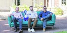 Les dirigeants d'Akeneo : Benoît Jacquemont, CTO ; Fred de Gombert, CEO ; Nicolas Dupont, VP Engineering.
