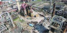 AZF au lendemain de sa destruction par l'explosion du 21 septembre 2001. Le site va notamment accueillir sur 25 hectares la plus grande centrale photovoltaïque urbaine de France.