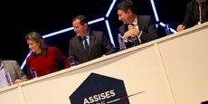 Gérard Bekerman, le président de l'Afer, entouré de Benjamin Griveaux, député de Paris, à droite et de Camille Morvan, cofondatrice de la startup Goshaba, à gauche.