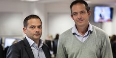 Les cofondateurs et co-directeurs généraux de la Fintech britannique Ebury, Salvador Garcìa et Juan Lobato.