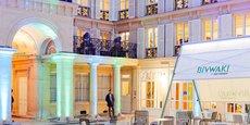 Situé à deux pas de l'hôtel Drouot dans le 9ème arrondissement de Paris, le Bivwak est un espace de 3.500 m2 où les collaborateurs de BNP Paribas peuvent venir incuber leur projet ou se former à la méthode agile.