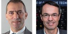 Ariel Sirat (à gauche), en partance pour Airbus, est remplacé par Denis Descheemaeker (à droite) à la direction générale de l'IRT Saint-Exupéry.