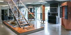 Un showroom du groupe CSW, spécialiste de la protection solaire et de la fermeture