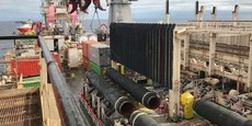 Vue du chantier de Nord Stream 2.